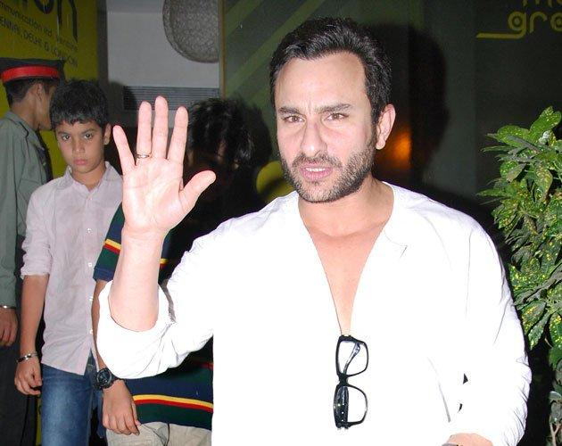 Saif Ali Khan Snapped To Watch Agent Vinod