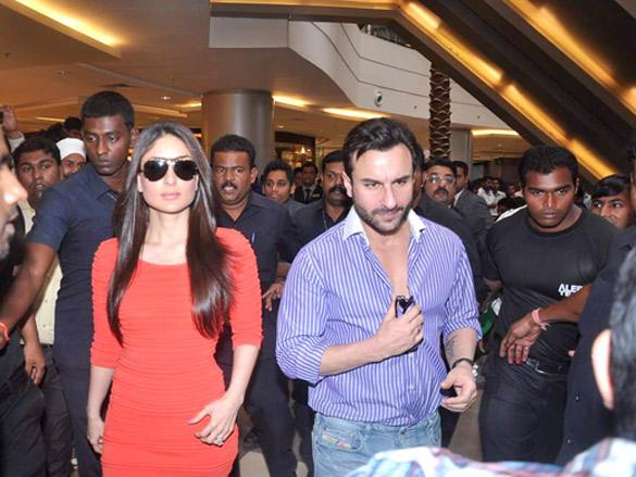 Saif Ali Khan and Kareena Kapoor Promote Agent Vinod Latest Photo