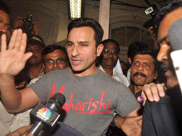Saif Meets the Media to Clarify Controversy on 22nd Feb 2012