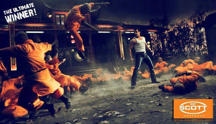 Salman Khan Dixcy Scott Innerwear Ad Photo