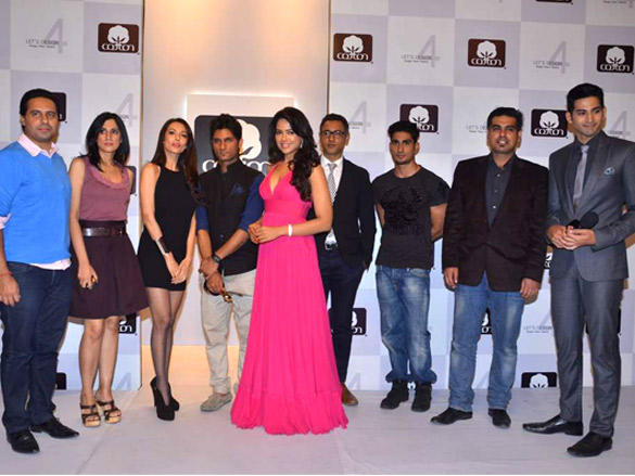 Sameera Reddy at Cotton Council of India's Lets Design contest