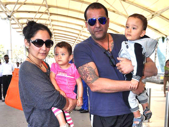 Sanjay and Manyata with twin kids