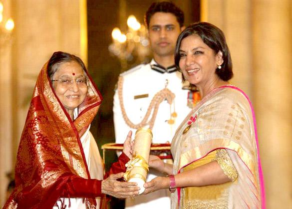 Shabana Azmi Receive Padma Bhushan Award 2012