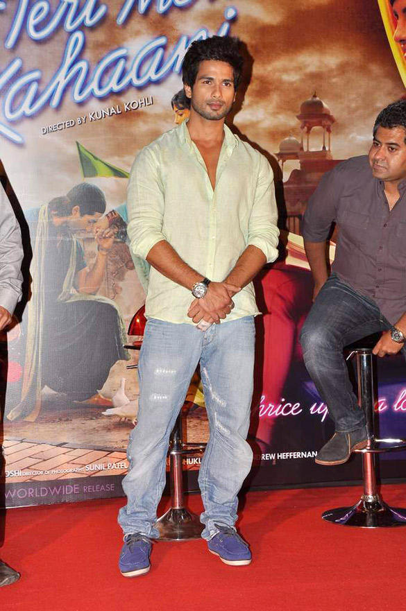 Shahid Kapoor at Teri Meri Kahani Promo Launch