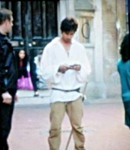 Shahid Kapoor on the sets of Teri Meri Kahaani