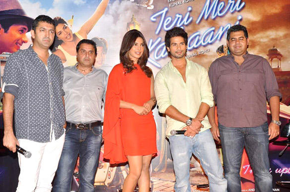 Shahid and Priyanka at Teri Meri Kahani Promo Launch