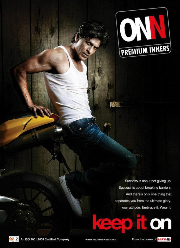 Shahrukh Khan Looks Fit and Slim For Lux Cozy ONN Innerwear Print Ad