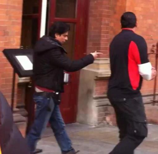 Shahrukh Khan On The Set Of London Ishq