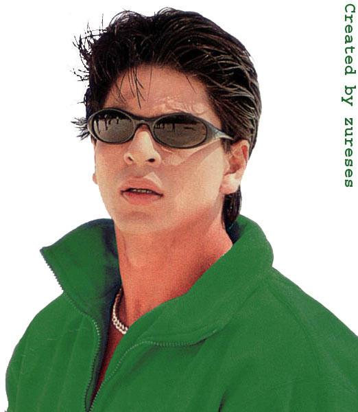 Shahrukh Khan Sexy Face Green Shirt Wallpaper