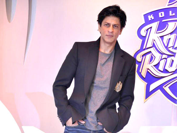 Shahrukh Khan at Kolkata Knight Riders new logo