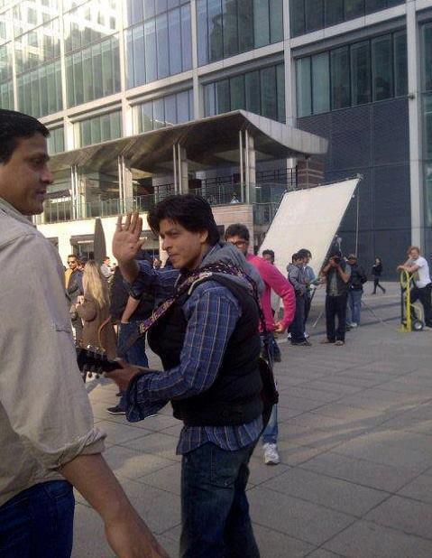 Shahrukh Khan at The Shooting Set Of London Ishq