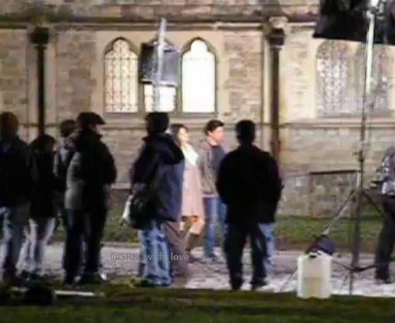 Shahrukh and Katrina Kaif On The Shooting Set Of London Ishq