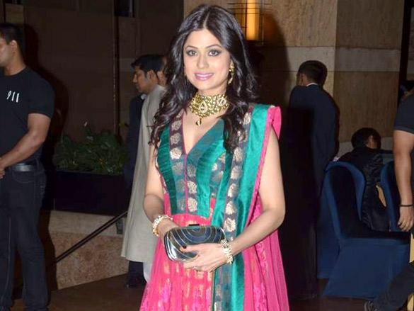 Shamita Shetty at Honey Honey Bhagnani's sangeet ceremony