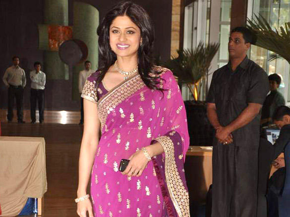 Shamita Shetty at Honey and Dheeraj Deshmukh wedding reception