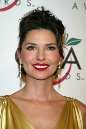 Shania Twain Red Lips Beauty Smile Pic
