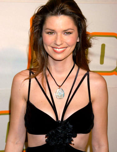 Shania Twain Sexy Black Dress Gorgeous Pic