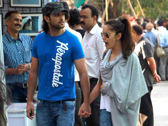Shazahn Padamsee snapped with her boyfriend
