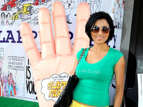 Shefanjali Shekhar at Viren Shah's Happy Slappy party