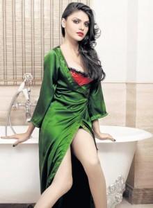 Sherlyn Chopra Green Dress Awesome Still