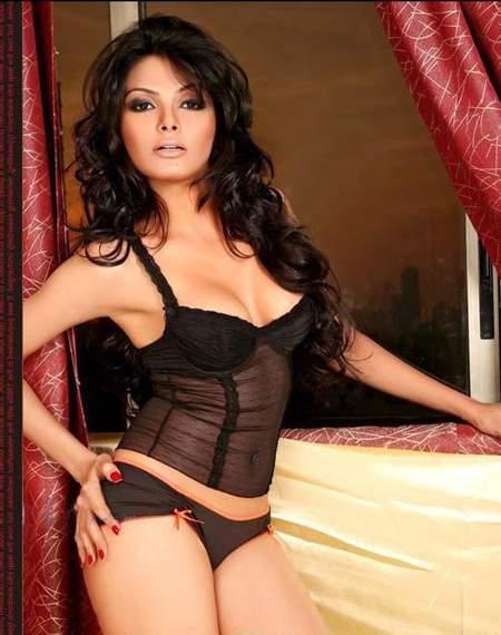 Sherlyn Chopra Two Piece Dress Hot Still