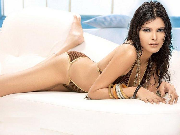 Sherlyn chopra lying Hot Bikini