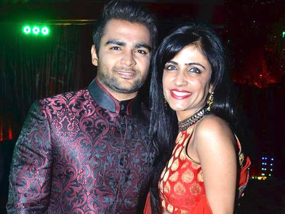 Shibani Kashyap with Sachin Joshi poses to phpto shoot