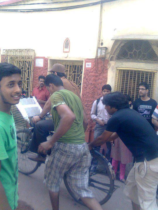 Shooting Set Of Barfi Hindi Movie