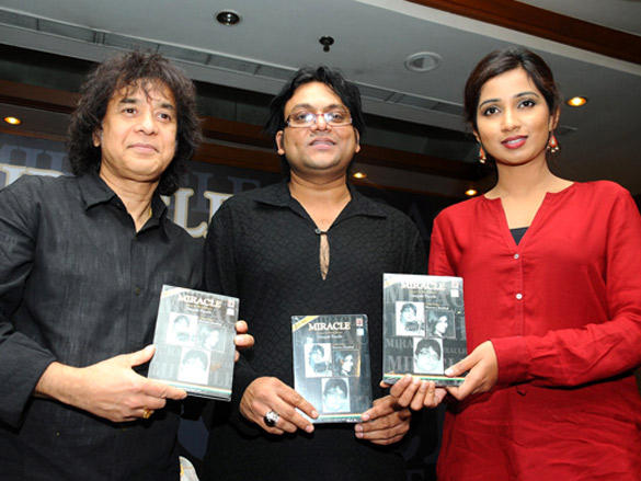 Shreya,Deepak and Zakir Hussain Launches the Album Miracle