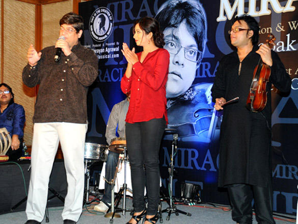 Shreya Ghoshal,Deepak Pandit at launch of album Miracle