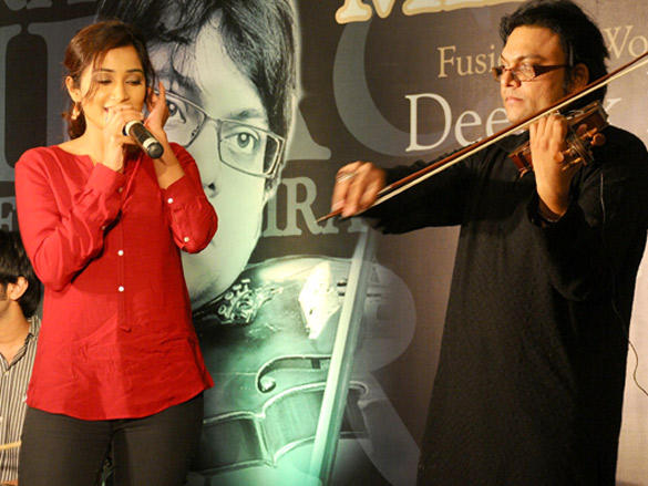 Shreya and Deepak Performs at the launch of Album Miracle