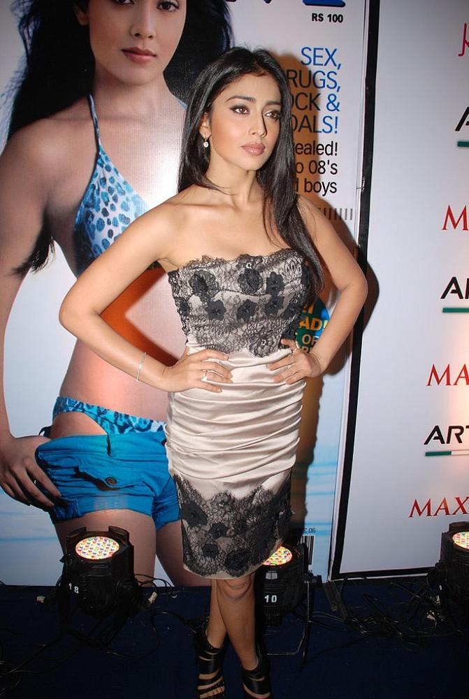Shriya Saran at Maxim Cover Launch