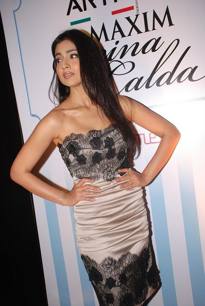Shriya Saran spicy pose at Maxim Cover Launch