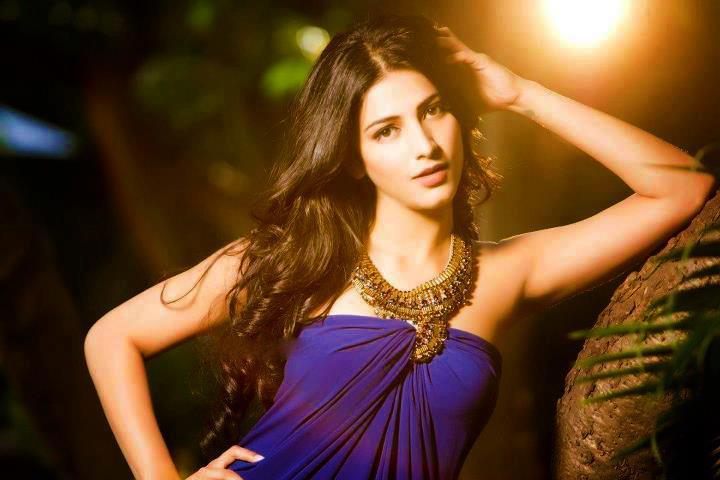 Shruti Hassan Blue Dress Gorgeous Photo Shoot