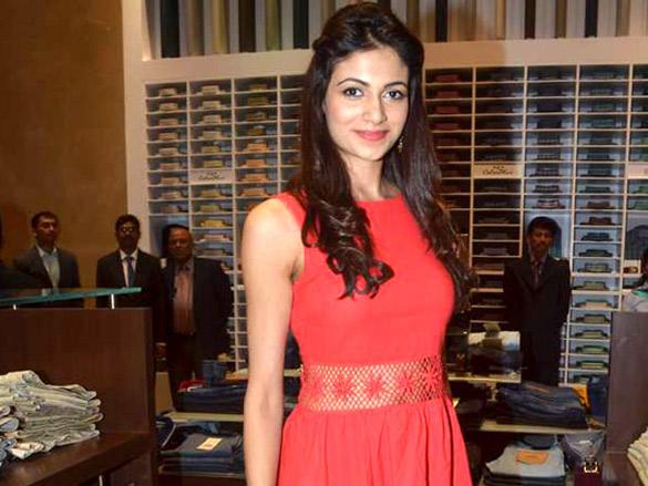 Simran Kaur at Raymonds' new store launch