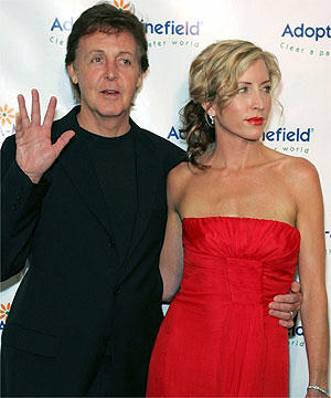 Sir Paul Mccartney and Wife Heather Mills Photo