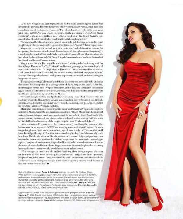 Sofia Vergara  Sexy Dress Magazine Still