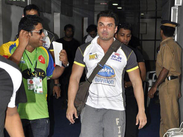 Sohail Khan at Mumbai Heroes CCl 2 match