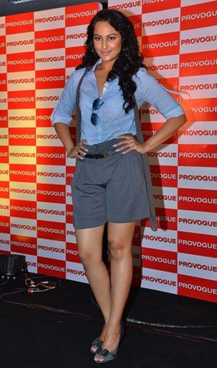 Sonakshi Sinha Mini Dress Cute Pose Photo Shoot