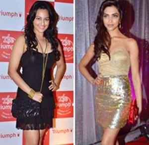 Sonakshi Sinha and Deepika Mini Dress Hot Still