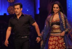 Sonakshi Sinha and Salman Khan Walk Ramp Still