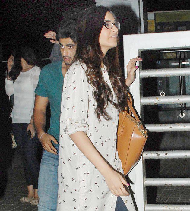 Sonam Kapoor  With Cousin Arjun Kapoor