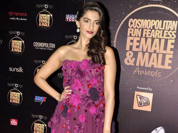 Sonam Kapoor At 4th Cosmopolitan Fun Fearless Female and