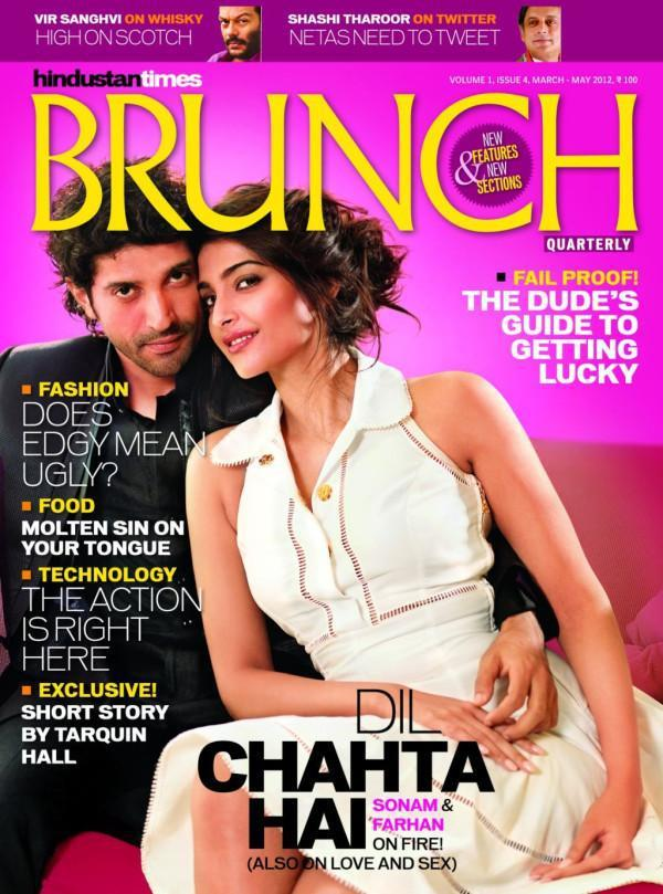 Sonam Kapoor and Farhan Akhtar on The Cover of HT Brunch