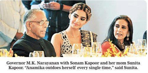 Sonam Kapoor at the Anamika Khanna Fashion Show in Kolkata