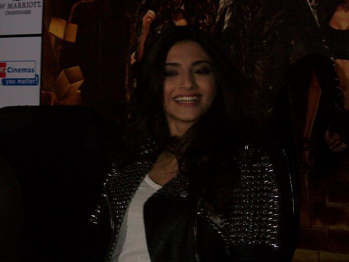 Sonam Kapoor talking Press in Chandigarh to promote Movie