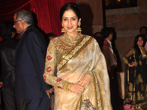 Sridevi at Riteish and Genelia's reception