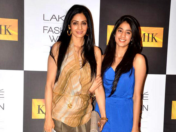 Sridevi with her daughter at the Karmik show