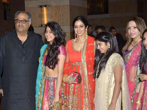 Srivedi with family at Honey Bhagnani's Sangeet  ceremony