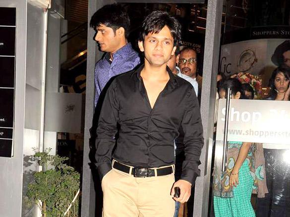 Stars at Agent Vinod Screening at PVR