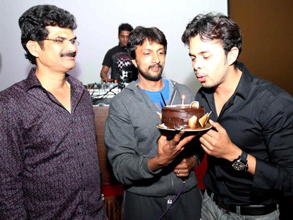 Sudeep,Sreesanth at Cricket League  party in Vizag